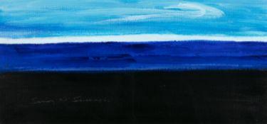 Sean McSweeney HRHA (1935-2018) Shoreline Bog II, Sligo (Winter) Oil on board, 21.5 x 47cm (8½ x