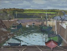 Maurice MacGonigal PRHA (1900-1974) Clogher Harbour Oil on panel, 30 x 40cm (11¾ x 15¾'') Signed;