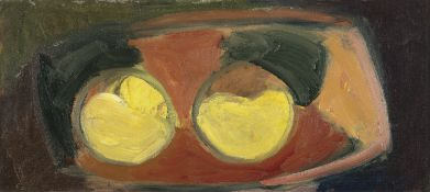Elizabeth Rivers RHA (1903-1964) Abstract Oil on canvas, 24 x 54cm (9½ x 21¼'') Provenance: With
