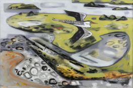Norah McGuinness HRHA (1901-1980) Flight over Mulroy Oil on canvas, 51 x 76cm (20 x 30'') Signed