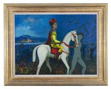 Daniel O'Neill (1920-1974) Horseman Pass By Oil on board, 51 x 69cm (20 x 27¼'') Signed; inscribed