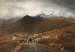 Bartholomew Colles Watkins RHA (1833 - 1891) Driving Cattle, Upper Lake, Killarney Oil on canvas, 85