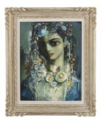 Daniel O'Neill (1920-1974) Flora Oil on board, 45.5 x 36cm (18 x 14'') Signed; inscribed with