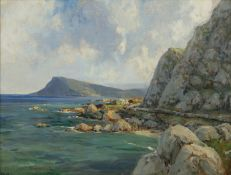 James Humbert Craig RHA RUA (1877-1944) Antrim Coast Oil on board, 43 x 58cm (17 x 22¾'') Signed