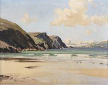 Maurice C. Wilks RUA ARHA (1911 - 1984) Minaun Cliffs, Achill Island, Co. Mayo Oil on canvas, 56 x