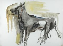 Barrie Cooke HRHA (1931-2014) Wolf Watercolour, 55 x 74cm (21½ x 29'') Signed and dated (19)'61
