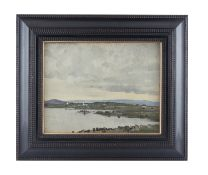 Paul Henry RHA (1877-1958) Connemara Landscape with Cottages Oil on canvas, 30 x 38cm (11¾ x 15'')