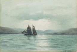 William Percy French (1854 - 1920) Lough Swilly Watercolour, 17 x 25cm (6¾ x 9¾'') Signed with