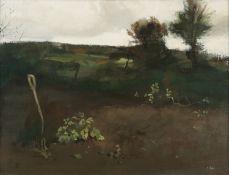 Tom Carr ARHA HRUA ARWS (1909-1999) Pitchforks Oil on canvas, 46 x 61cm (18 x 24'') Signed