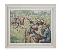 William Conor RHA RUA ROI (1881-1968) Children Playing on a Seesaw Oil on canvas, 51 x 61cm (20 x