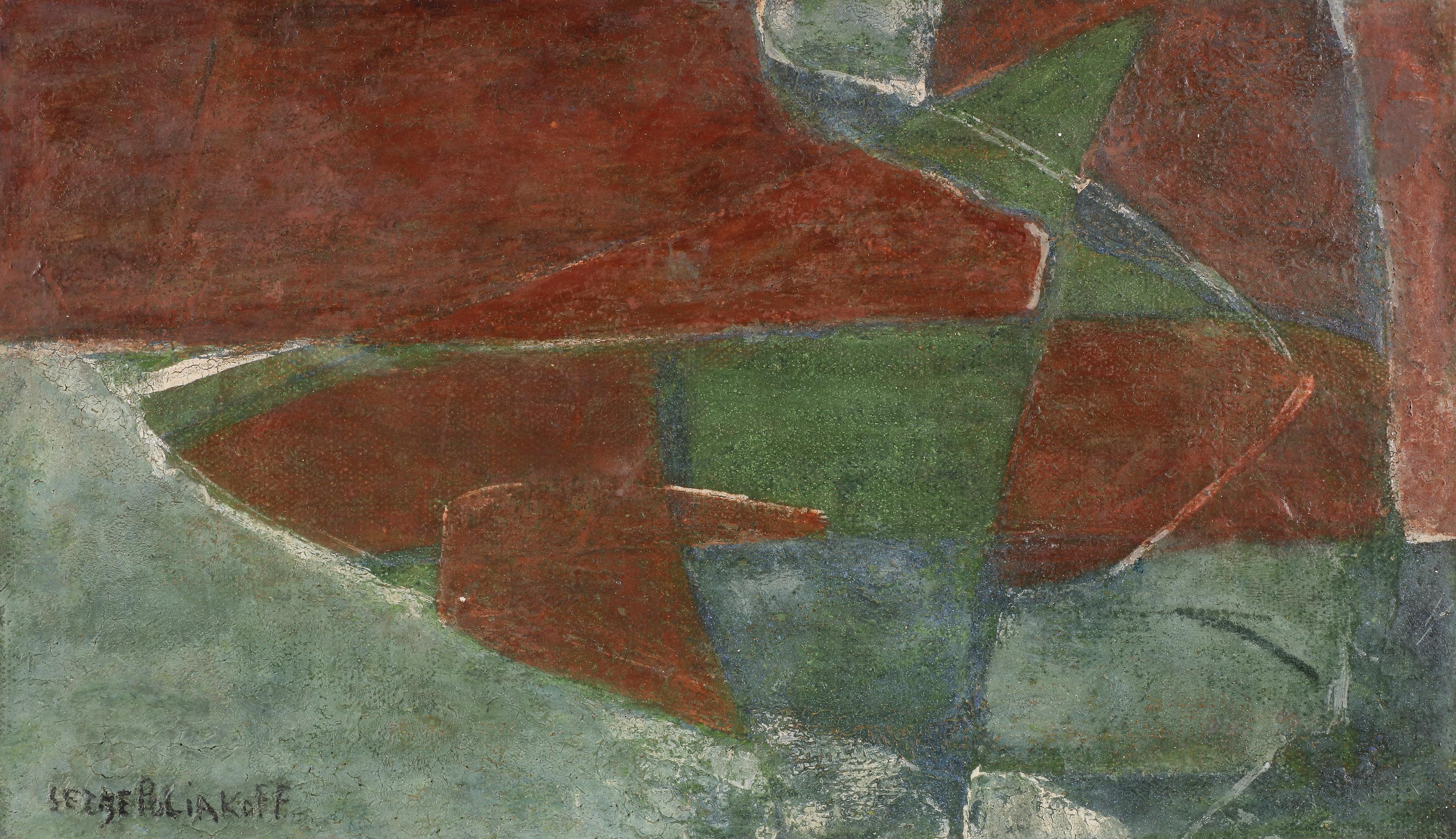 Lot 16 - Serge POLIAKOFF [russe] (1900-1969)Composition, vers 1948Huile sur toile.Signée en bas à gauche. (