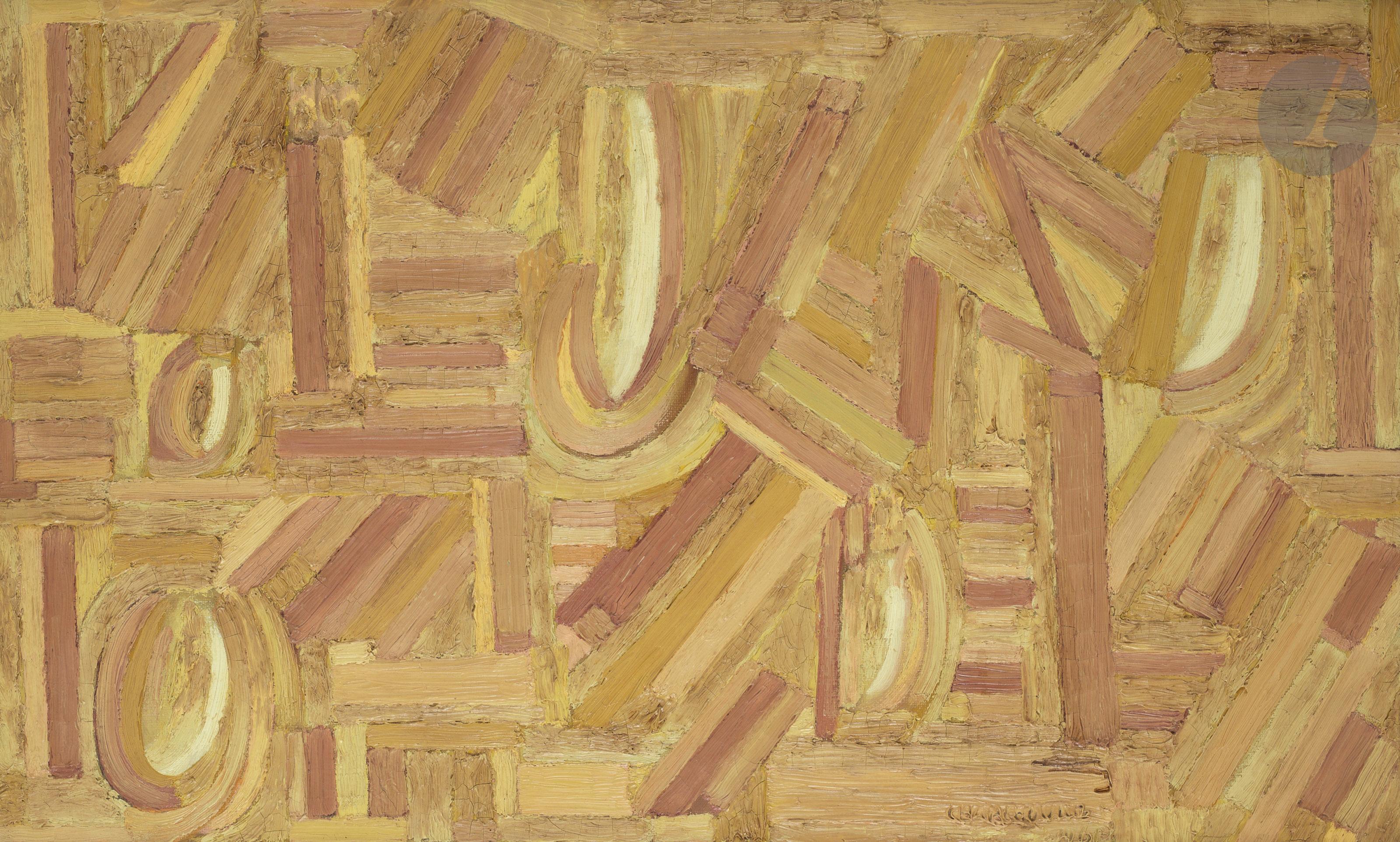 Lot 56 - Serge CHARCHOUNE [russe] (1888-1975)Negro spirituals Var. 2 II, 1961Huile sur toile.Signée et