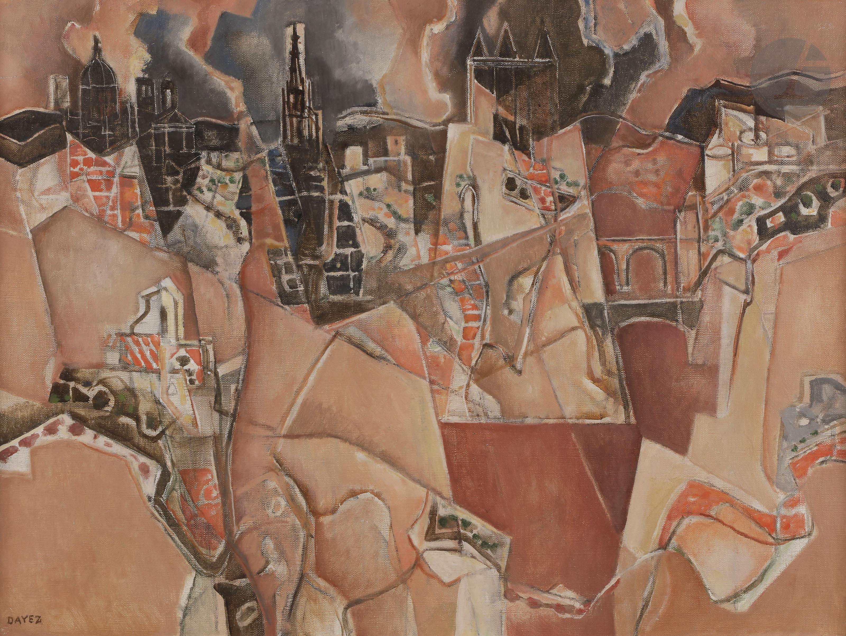 Lot 10 - Georges DAYEZ (1907-1991)Tolède, Na Sa de la Cabesa, 1968Huile sur toile.Signée en bas à gauche.