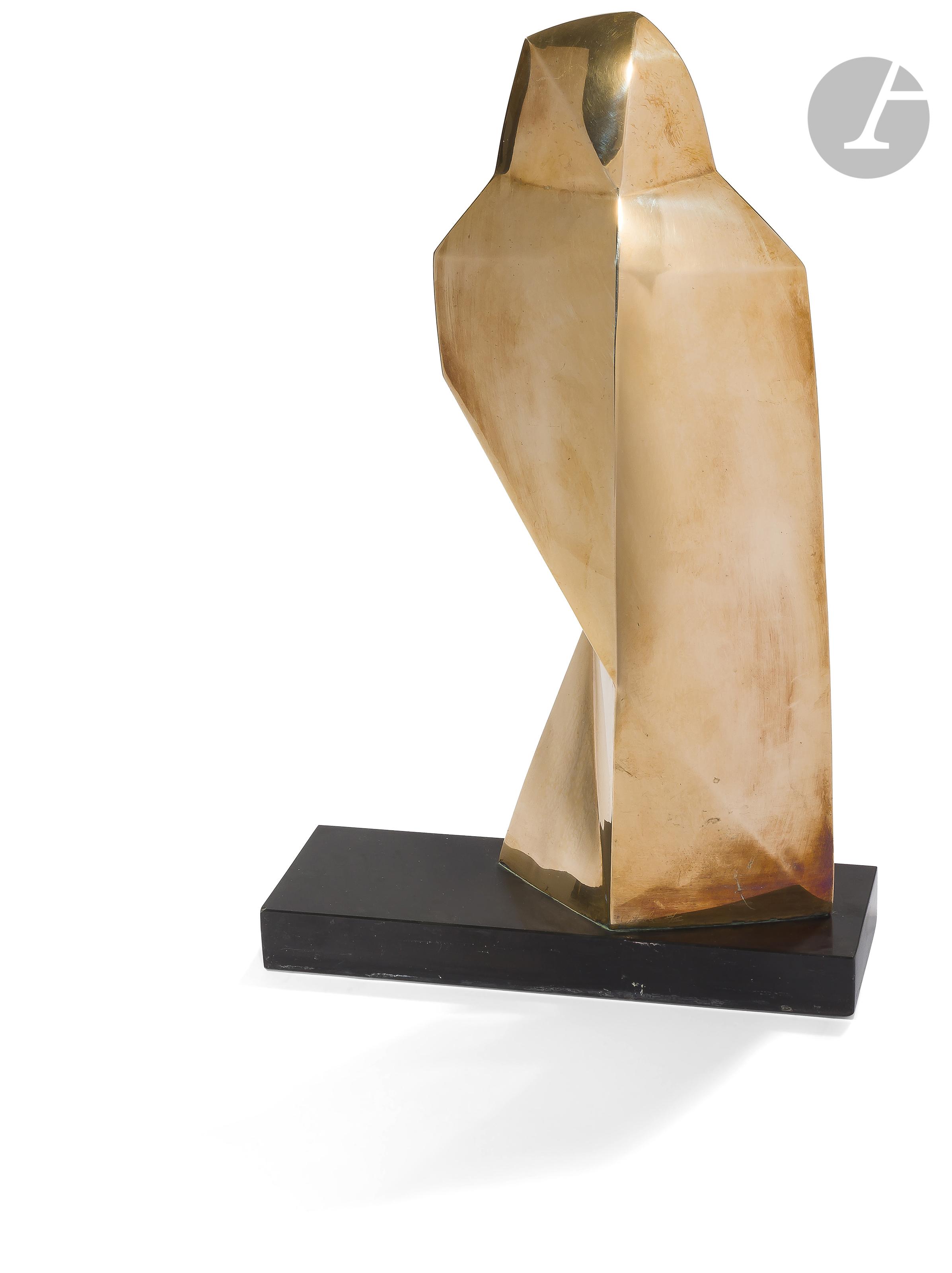 Lot 19 - Emile GILIOLI (1911-1977)La Droite du Seigneur est coupante comme un glaive, 1961Bronze poli et base