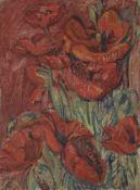 *Nicolas Alexandrovitch TARKHOFF(1871-1930)CoquelicotsHuile sur carton.Non signée. Au dos une