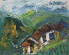 Alexandre Sergueïevitch PUTOV (1940-2008) Paysage, 1998 Huile sur toile. Signée et datée en haut à