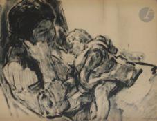 *Nicolas Alexandrovitch TARKHOFF(1871-1930)Maternité, 1906Lavis d'encre au pinceau sur papier
