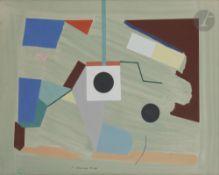 Leonid Konstantinovitch BORISSOV (1943-2013) Composition géométrique, 1988 Gouache sur papier.