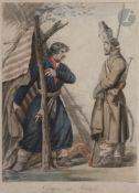 Carle VERNET (1758-1836) [dessiné par]Philibert-Louis DEBUCOURT (1755-1832) [gravé par]Le Cosaque au