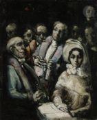 Grigory Efimovitch GLUCKMANN (1898-1973) Cérémonie de mariage, 1924 Huile sur toile. Signée,