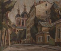 Marat Kharitonovitch BASKAEV (né en 1931) Moscou, 1984 Huile sur toile marouflée sur panneau.