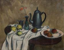 Alexandre Alexandrovitch OSMERKIN (1892-1953) Nature Morte Huile sur toile. Signée en bas à