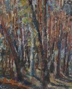 Viatcheslav Vassilievitch KALININ (né en 1939) Futaie, 1984 Huile sur toile. Non signée. L'