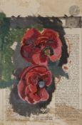 *Nicolas Alexandrovitch TARKHOFF(1871-1930)Deux pivoinesHuile sur papier contrecollé sur carton.