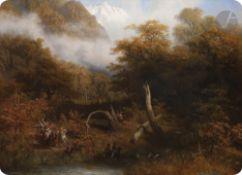 Pharamond BLANCHARD (1805-1873) Patrouille de cosaques Huile sur toile. Signée en bas à gauche. (