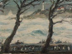 Robert William JIVANOVICH dit JIVA (1907-1974) Biarritz, Grosse mer. Huile sur toile. Signée en