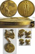 Winner's Gold Medal: Olympic Games 1972 Munich - Gold medal for winning the K-4 at the Olympic