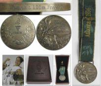 Olympic Games 1966. Silver Winnner medal Atlanta - Silver medal which belonged to German swimmer