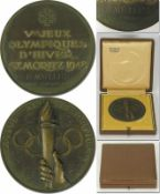 Olympic Winter Games 1948 Bronze winner medal - Bronze medal for a third place at the Olympic Winter