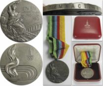 Silver Winner's Medal: Olympic Games 1980 Moscow - Winner medal for the gymnastics runner-up at