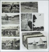 Olympic Games 1912. Collection of 184 Postcards - 127different official black-and-white postcards (