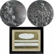 Silver Winner's Medal: Olympic Games Berlin 1936 - Winner medal of the German boxer Richard Vogt (