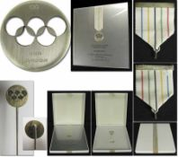 Olympic Order in Silver IOC 1976 - 1984 - Olympic order of the IOC in silver which was awarded to