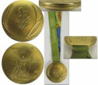 Olympic Games Rio 2016 Winner Goldmedal wrestling - Gold medal from the Olympic Games in Rio de