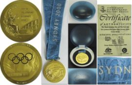 Olympic Games Sydney 2000 Silver Winner Medal - Winner medal for the 1st place in volleyball for