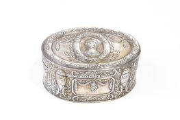 18TH C CONTINENTAL SILVER PATCH BOX, 142g