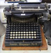 "A vintage Smith Premier ""No. 4"" typewriter, with case."