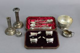 A pair of George III silver bright-cut sugar tongs, London 1807, by Peter & William Bateman; a plain