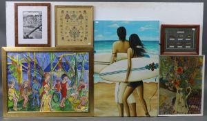 Various decorative paintings, prints, etc.