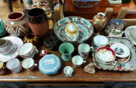 Various items of decorative china & pottery, part w.a.f.