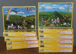 Eleven various children's jig-saw puzzles, as-new.