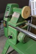 """A MULTICO """"PRO-MEX"""" ELECTRICALLY OPERATED CARPENTER'S WOOD-TURNING LATHE, on table stand, complete"""