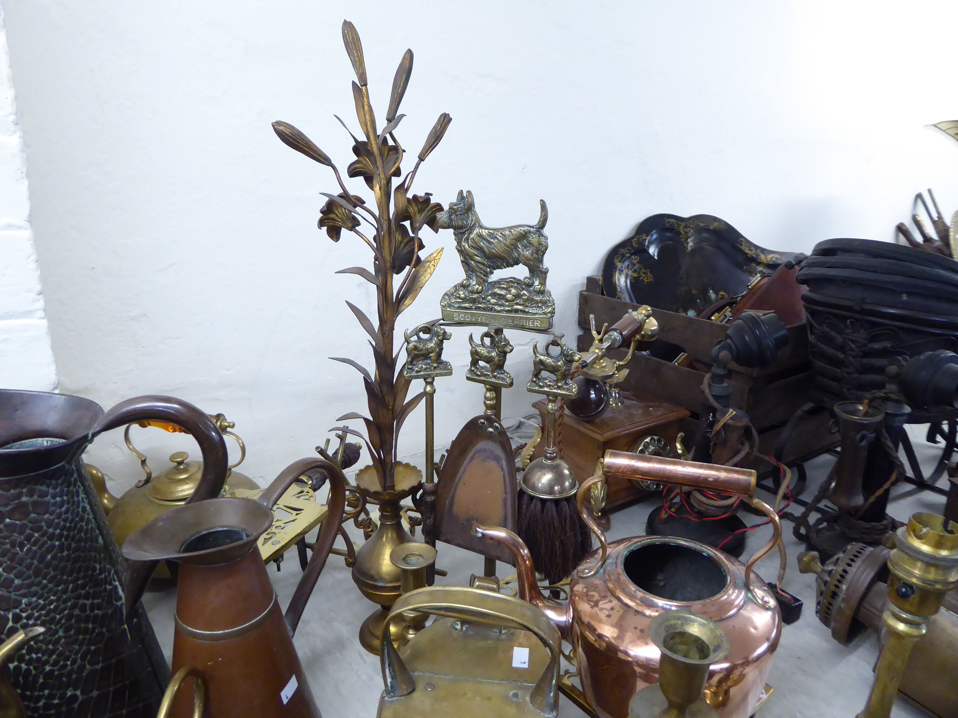 Lot 4 - 19thC and later metalware: to include kettles,