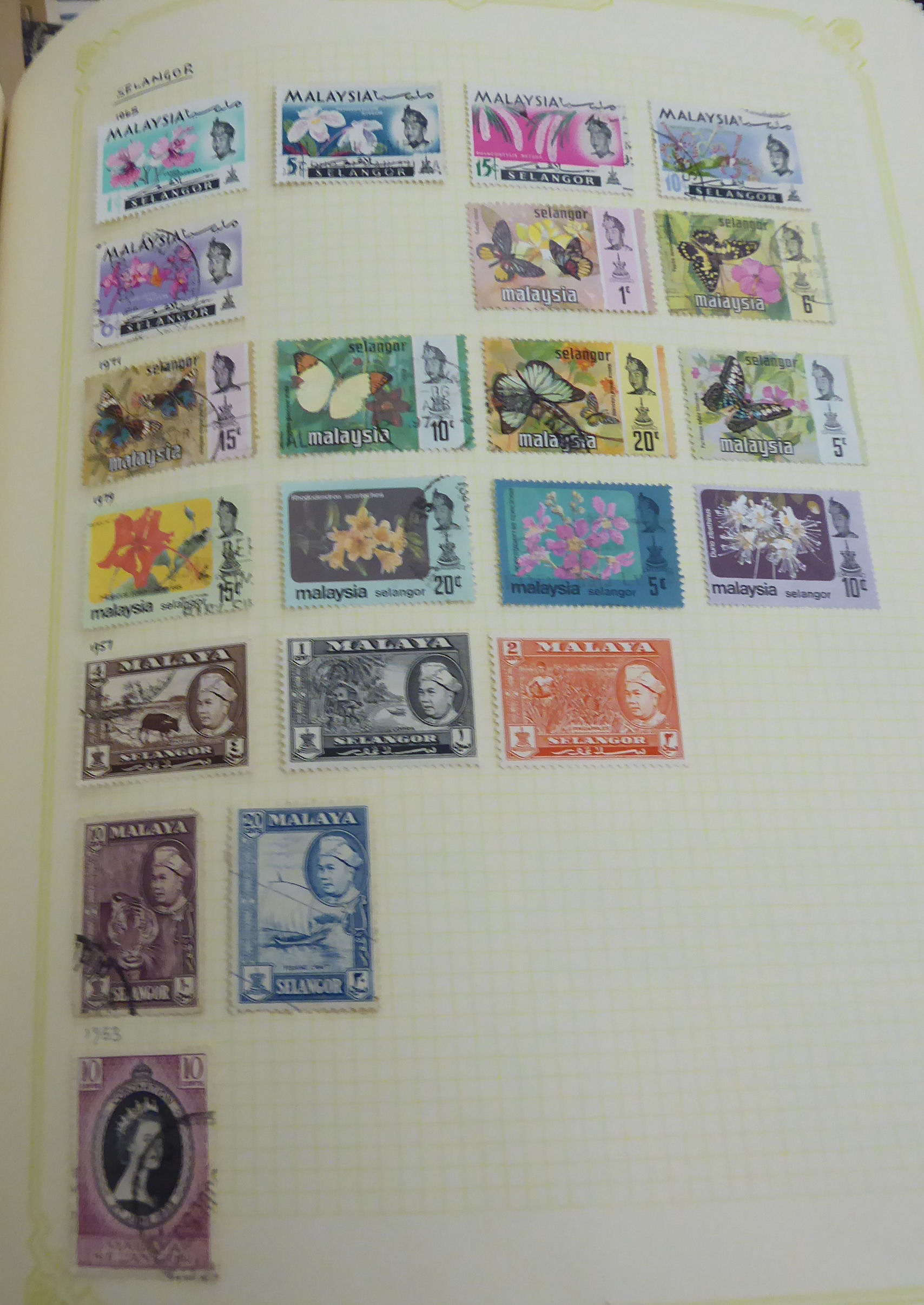 Lot 43 - Uncollated used postage stamps, countries beginning with I, K, L,