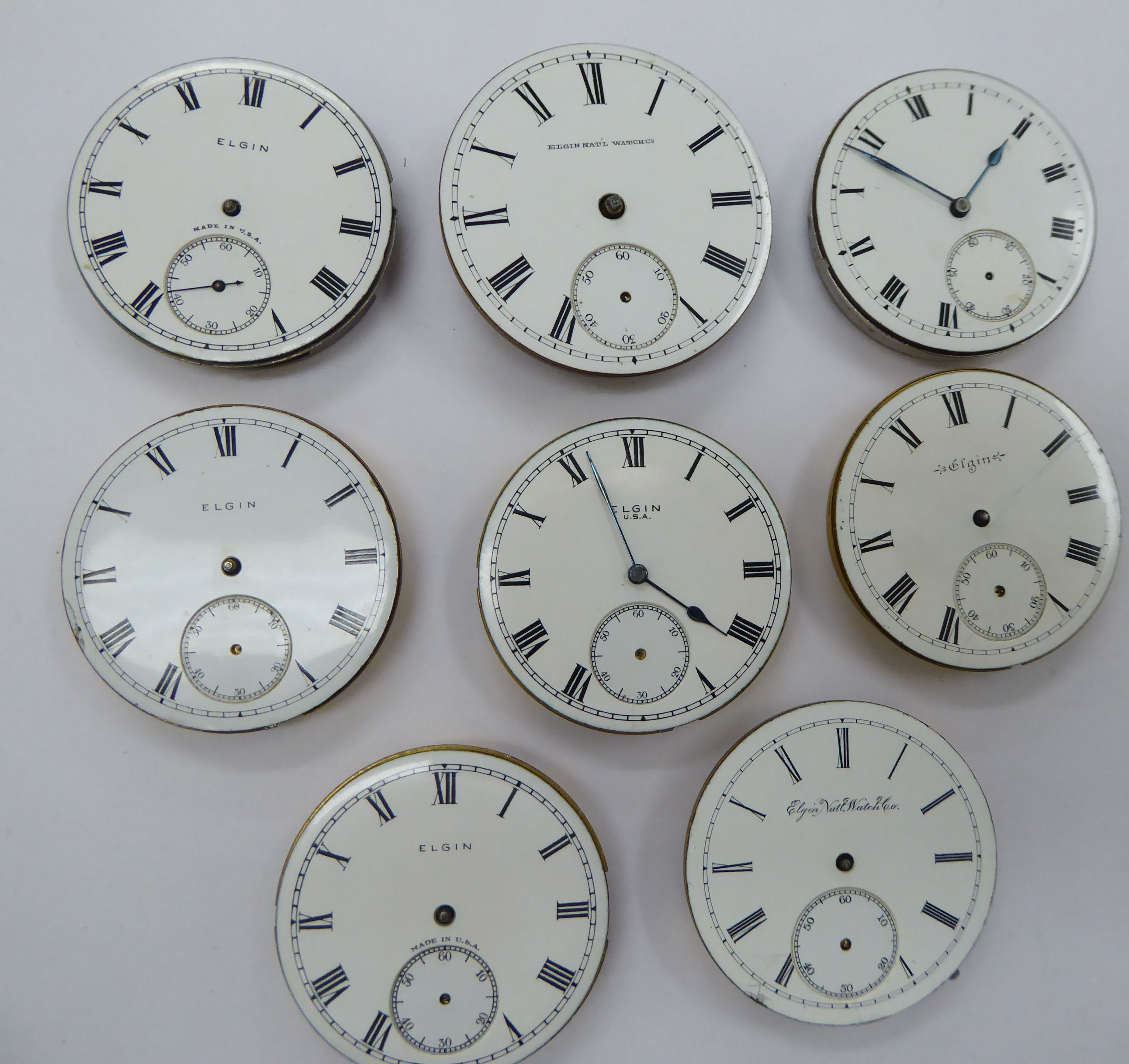 Lot 12 - Eight late 19th/early 20thC pocket watch movements,