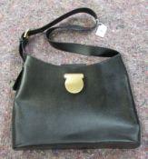 A Salvatore Ferragamo black leather tote bag OS6